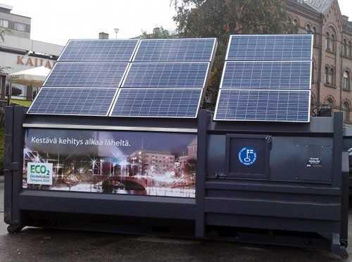 Компактор на солнечной энергии